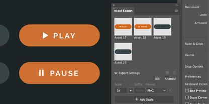 Adobe Illustrator CC - Modyfikowalny interfejs