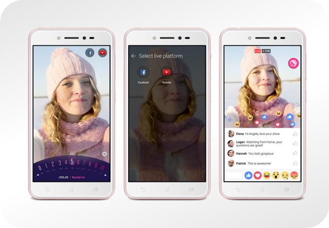 ASUS Zenfone Live (ZB501KL) z aplikacją BeautyLive