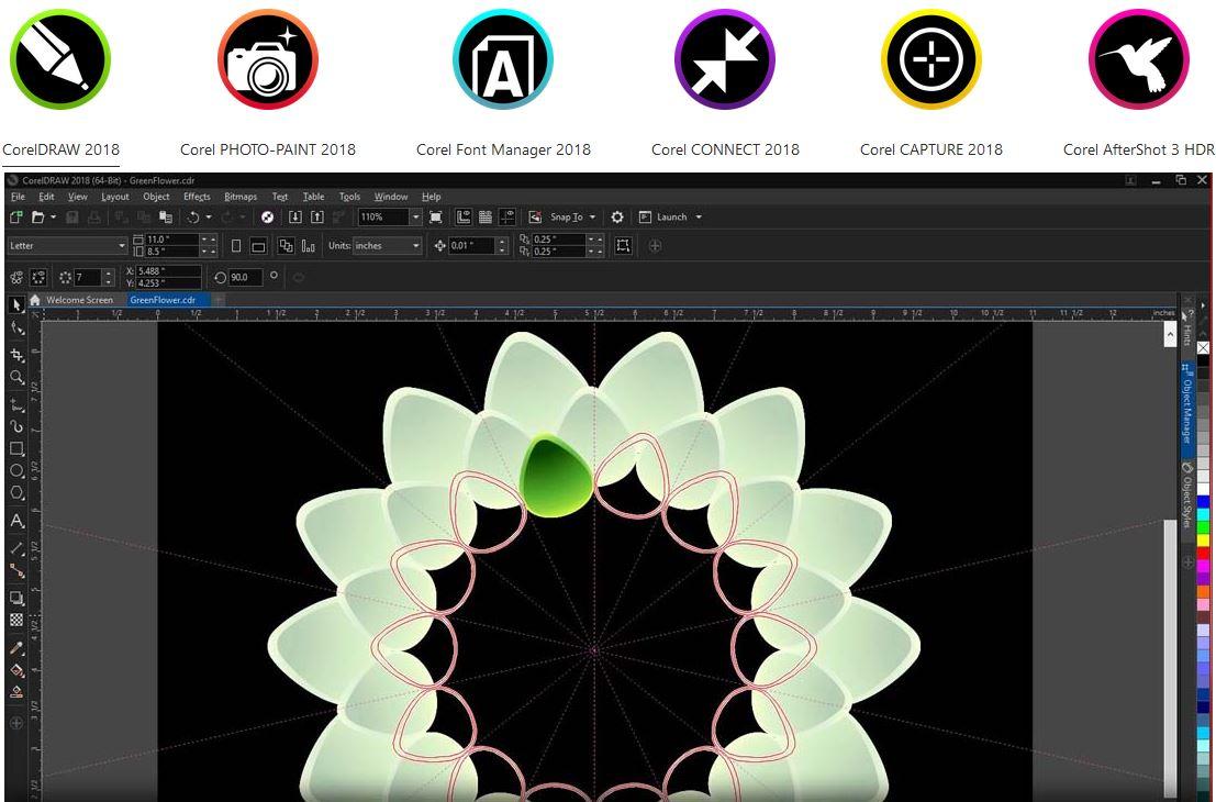 CorelDRAW Graphics Suite 2018 - Aplikacje