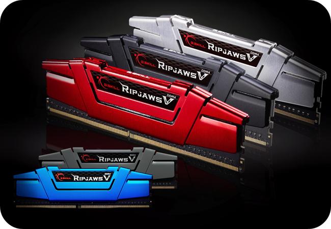 G.SKILL RipjawsV DDR4 - dostępne kolory