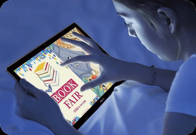 Huawei MediaPad M5 10.8 64GB - Redukcja emisji niebieskiego światła