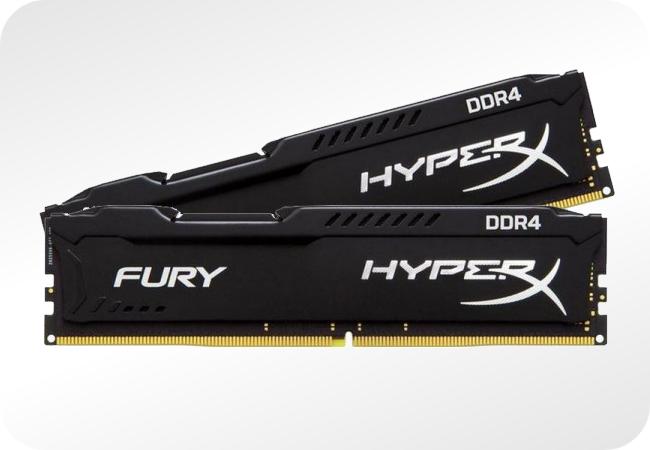 Pamięci HyperX Fury DDR4 - napięcie 1.2 V