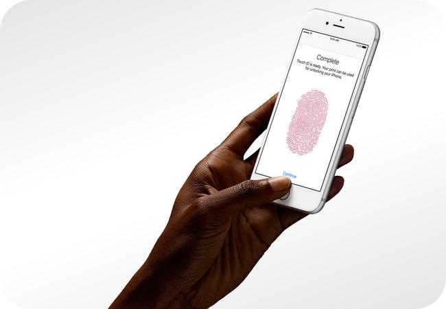 iPhone 6s z czytnikiem linii papilarnych