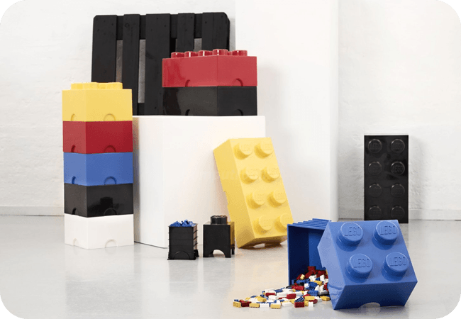 Lego Storage Brick 4 - Różnorodność kolorstyczna