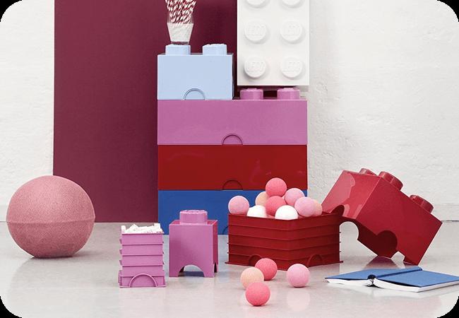 Lego Storage Brick 4 - Możliwość łączenia pojemników