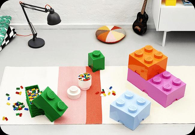 Lego Storage Brick 4 - Oryginalne wzornictwo