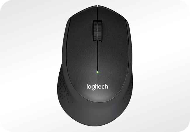 Logitech M330 Silent Plus - widok z góry