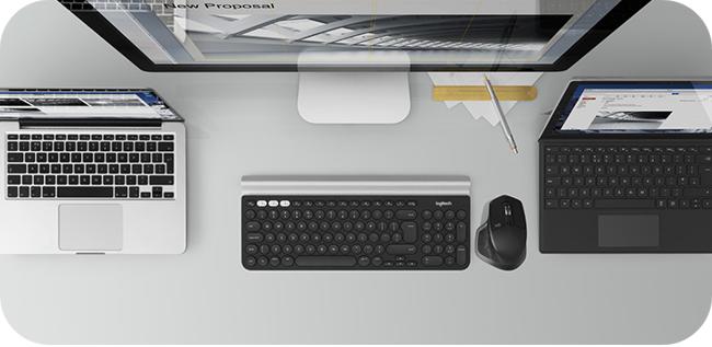 Logitech MX Master 2S - możliwość pracy na kilku urządzeniach jednocześnie