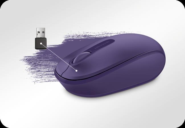 Microsoft Mobile Mouse 1850 - praca bezprzewodowa