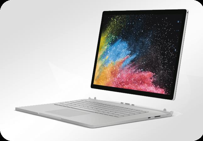 """Microsoft Surface Book 2 15"""" - wygląd z przodu"""