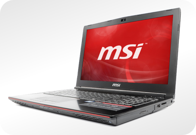 MSI GE62 - wygląd z przodu