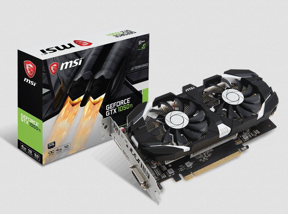 MSI GeForce GTX 1050 Ti 4GB GT OC - зовнішній вигляд