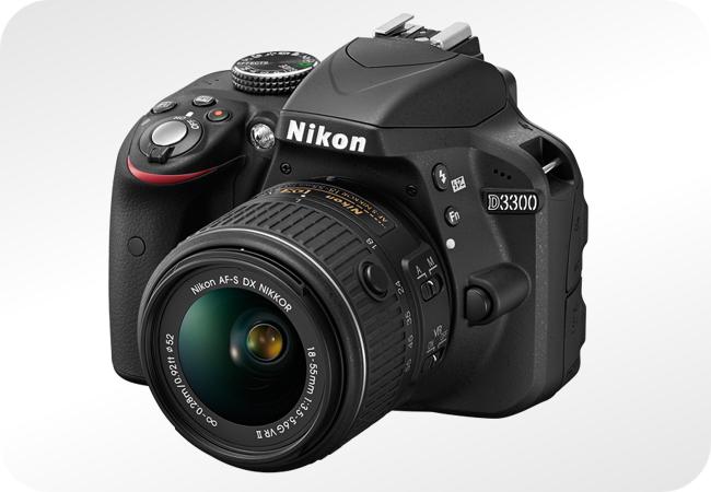 Nikkon D3300 - widok z przodu