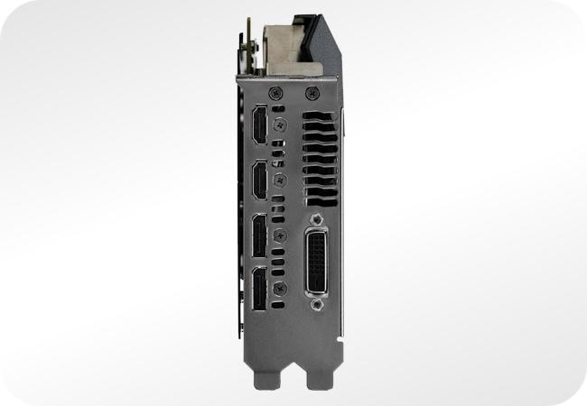 NVIDIA GeForce GTX 1080 - przykładowy zestaw i rozmieszczenie wyjść