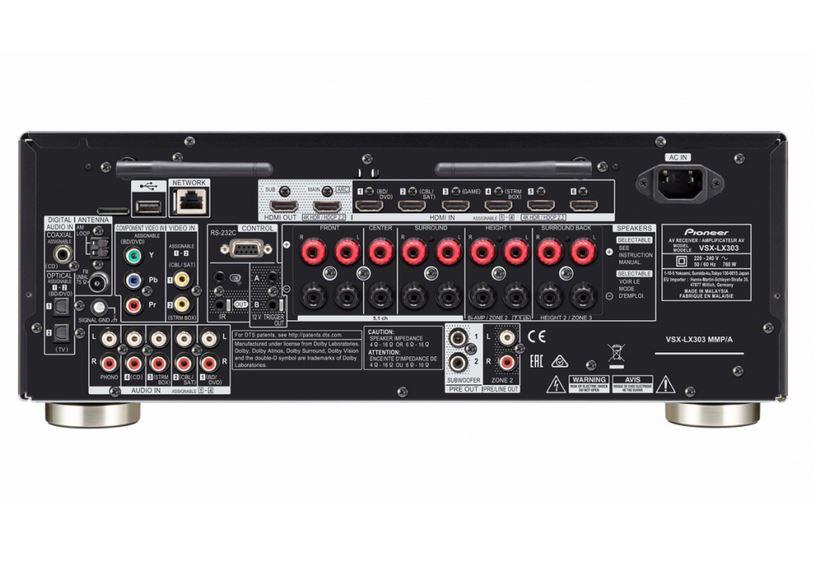 Pioneer VSX-LX303 - złącza