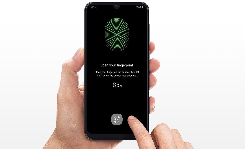 Samsung Galaxy A50 128GB Dual SIM - Bezpieczeństwo