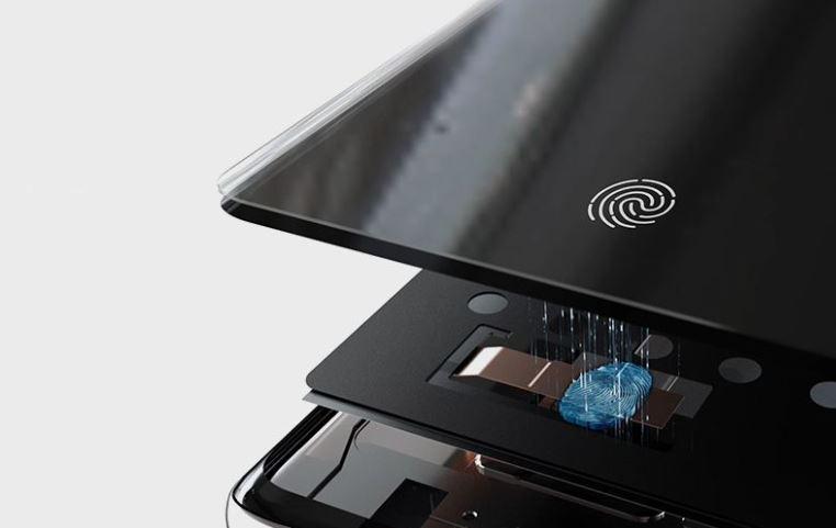 Samsung Galaxy S10+ - ultradźwiękowy czytnik linii papilarnych