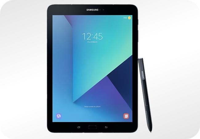 Samsung Galaxy Tab S3 - wygląd z przodu