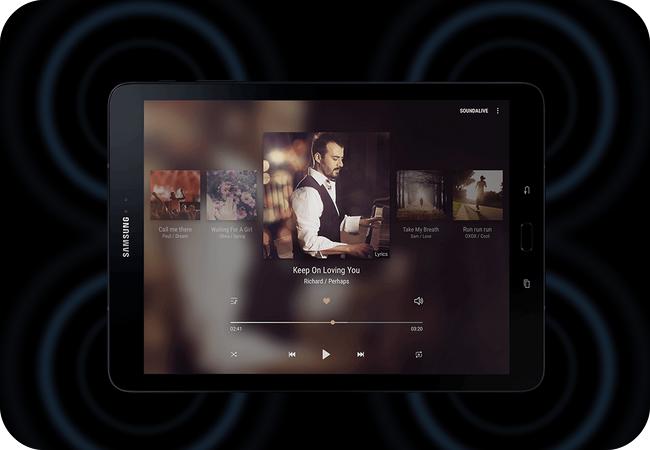Samsung Galaxy Tab S3 - doskonałej jakości dźwięk