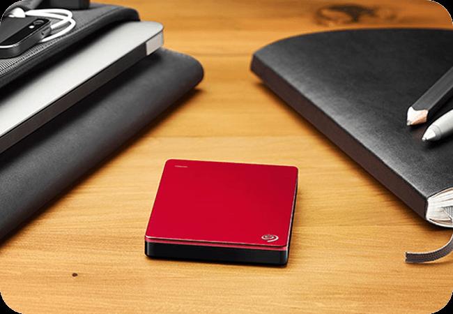 Seagate Backup Plus Slim 1TB - czerwony