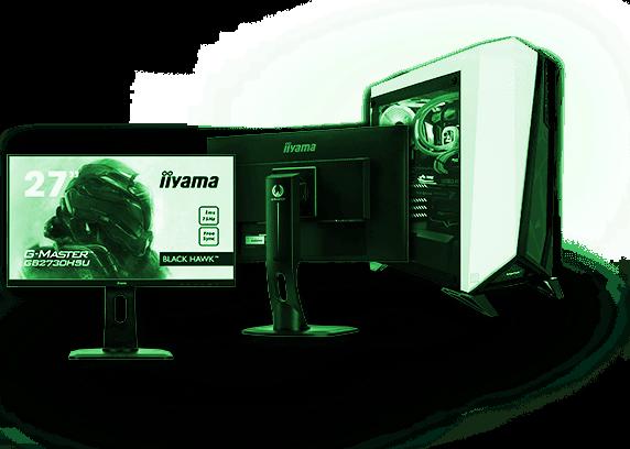 desktop and monitors